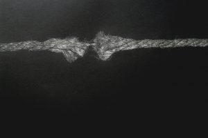 PUNTOS DE RUPTURA. Grabado (Mezzotinta, 35 x 50 cm). 2011