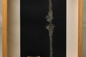 TROPEZOS NO CAMIÑO. Mezzotinta (50 x 35 cm), horma y cuerda. 2011