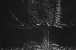 PUNTOS DE ANSIEDAD. Grabado ( Mezzotinta, 20 x 12 cm). 2012