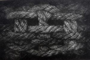 PUNTOS DE ANGURIA. Grabado ( Mezzotinta, 15 x 20 cm). 2012