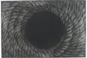 PUNTOS HACIA EL INTERIOR. Grabado (Mezzotinta, 15 x 22 cm). 2013