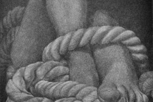 PUNTOS DE LIBERTAD. Grabado (Mezzotinta, 10 x 10 cm). 2014
