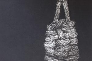 PUNTOS DESDE EL CORAZÓN. Grabado (Mezzotinta, 65 x 50 cm). 2015