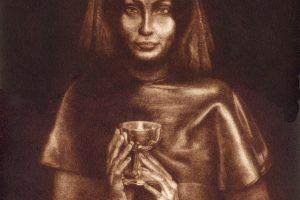 OFRENDA A ATENEA. Grabado (Mezzotinta 33,5 x 25 cm). 1999