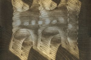 VÉRTIGO. Grabado (Mezzotinta 34 x 25 cm). 2000