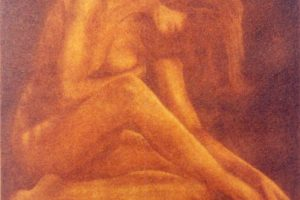 DESNUDO I. Grabado (Mezzotinta, 20 x 15 cm). 2001