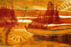 ONÍRICO. Grabado (Xilocolografía, 36 x 86 cm). 2001