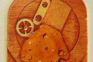 MACHINE I. Grabado (Xilocolografía 8,5 x 7 cm). 2002