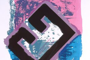 PERTO DA AUGA. Serigrafía, 51 x 32 cm. 1991