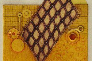 MACHINE III. Grabado (Xilocolografía 9,5 x 8 cm). 2002