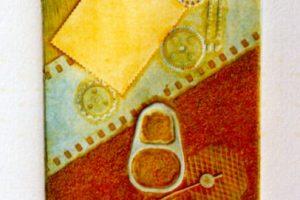 MACHINE IV. Grabado (Xilocolografía 10 x 9 cm). 2002