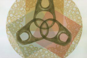 TRISKEL. Grabado (Mezzotinta y aguatinta 50 x 50 cm). 2002
