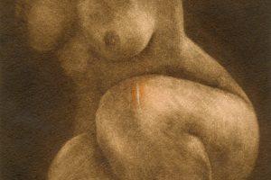 ÍNTIMA. Grabado (Mezzotinta y acetato, 18 x 18 cm). 2003