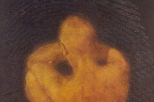 EL ARTISTA Y SU MODELO. Grabado (Mezzotinta y colografía, 50 x 35 cm). 2004