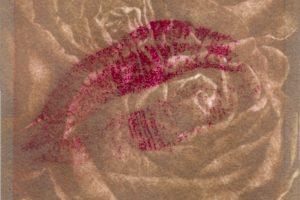 LA CARICIA DE TUS LABIOS. Grabado (Mezzotinta y punteador eléctrico 10 x 10 cm). 2005