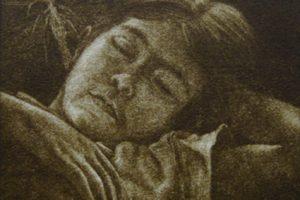 EL GUARDIÁN DEL SUEÑO. Grabado (Mezzotinta 10 x 10 cm). 2005