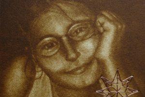 MI ESTRELLA. Grabado (Mezzotinta e hilo de cobre 10 x 10 cm). 2005