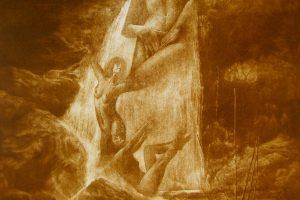 XACIAS DA FERVENZA. Grabado (Mezzotinta 50 x 35 cm). 2008