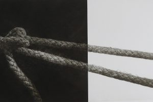 PUNTOS DE FUGA. Grabado (Mezzotinta, 25 x 45 cm). 2009