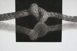 PUNTOS DE ENCUENTRO. Grabado (Mezzotinta, 50 x 50 cm). 2009