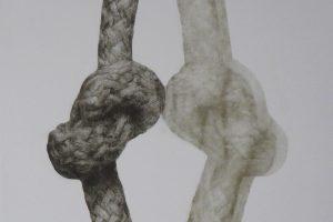 PUNTOS DE TENSIÓN. Grabado (Mezzotinta, 50 x 35 cm). 2009