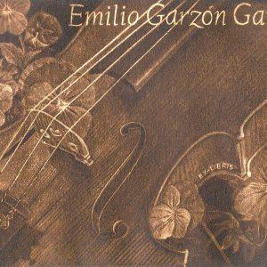 """Exlibris Emilio Garzón Garcés, 2014. """"Viola entre violetas"""". C7"""