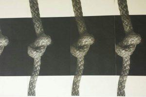 PRISIONES DEL ALMA. Grabado y Collage (87 x 48 cm). 2016