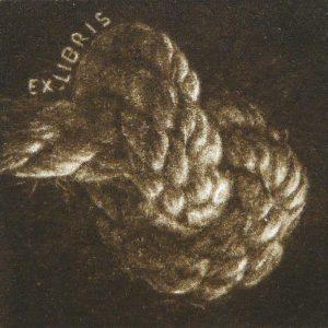 """Exlibris Nudo. """"Punto y final"""", 2011. C7"""