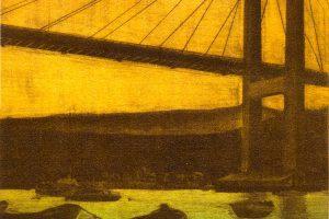 SOLPOR EN RANDE. Grabado (Mezzotinta 26 x 19 cm). 2001